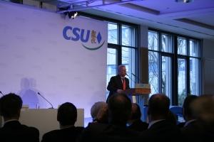 Dr. Joachim Gauck sprach am 12. März exklusiv zu CSU-Mitgliedern in München. Foto: Heinrich R. Bruns.