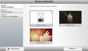 Einfache digitale Kerzen können kostenlos entzündet werden - animierte kosten.